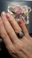 Кольцо керамическое с фианитами
