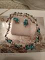 Шейное украшение с бирюзой и эмалью