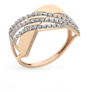 Золотое кольцо с фианитами СОРОКИН 80048600*: красное и розовое золото 585 пробы, фианит — купить в Екатеринбурге, фото, артикул 66394 — интернет-магазин SUNLIGHT