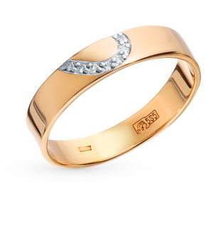 Золотое кольцо с бриллиантами EFREMOV К1317907*: красное и розовое золото 585 пробы, бриллиант — купить в Санкт-Петербурге, фото, артикул 63080 — интернет-магазин SUNLIGHT