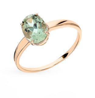 Золотое кольцо с аметистом SUNLIGHT s1-545-11-20*: красное и розовое золото 585 пробы, аметист — купить в интернет-магазине Санлайт, фото, артикул 91567