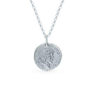 Серебряное шейное украшение: белое серебро 925 пробы — купить в интернет-магазине SUNLIGHT, фото, артикул 123204