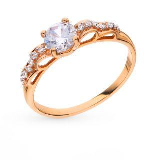 Золотое кольцо с фианитами СОРОКИН 70131100*: красное и розовое золото 585 пробы, фианит — купить в интернет-магазине SUNLIGHT, фото, артикул 78036