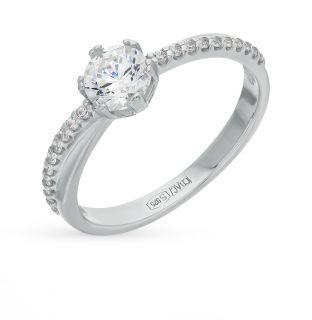 Серебряное кольцо с фианитами SOKOLOV 89010002: белое серебро, фианит — купить в интернет-магазине SUNLIGHT, фото, артикул 60483