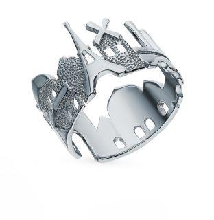 Серебряное кольцо: белое серебро 925 пробы — купить в интернет-магазине SUNLIGHT, фото, артикул 99603