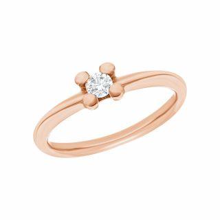 Золотое кольцо с бриллиантами АЛЬКОР 13372-100: розовое золото 585 пробы, бриллиант — купить в интернет-магазине SUNLIGHT, фото, артикул 148258