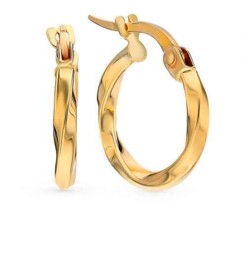 Серьги, вставка  элементы золота Au375  Желтое золото 585 пробы. −52%  SUNLIGHT ff21065e99b