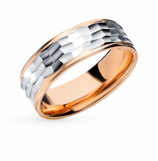 Кольцо Белое золото, розовое золото 585 пробы. −50% Пушкинский ювелирный  завод c357ca96159