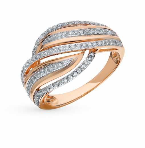 75c443d7d Кольцо с 97 бриллиантами, 0.33 карат; Розовое золото 585 пробы. SUNLIGHT