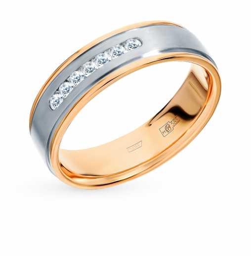 ff3a048d6750 Кольцо с 7 бриллиантами, 0.12 карат  Белое золото, розовое золото 585 пробы.  ХИТ Пушкинский ювелирный завод
