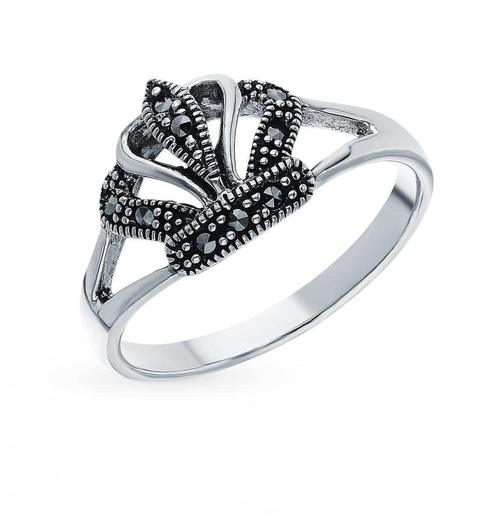 Серебряное кольцо с марказитами в Екатеринбурге