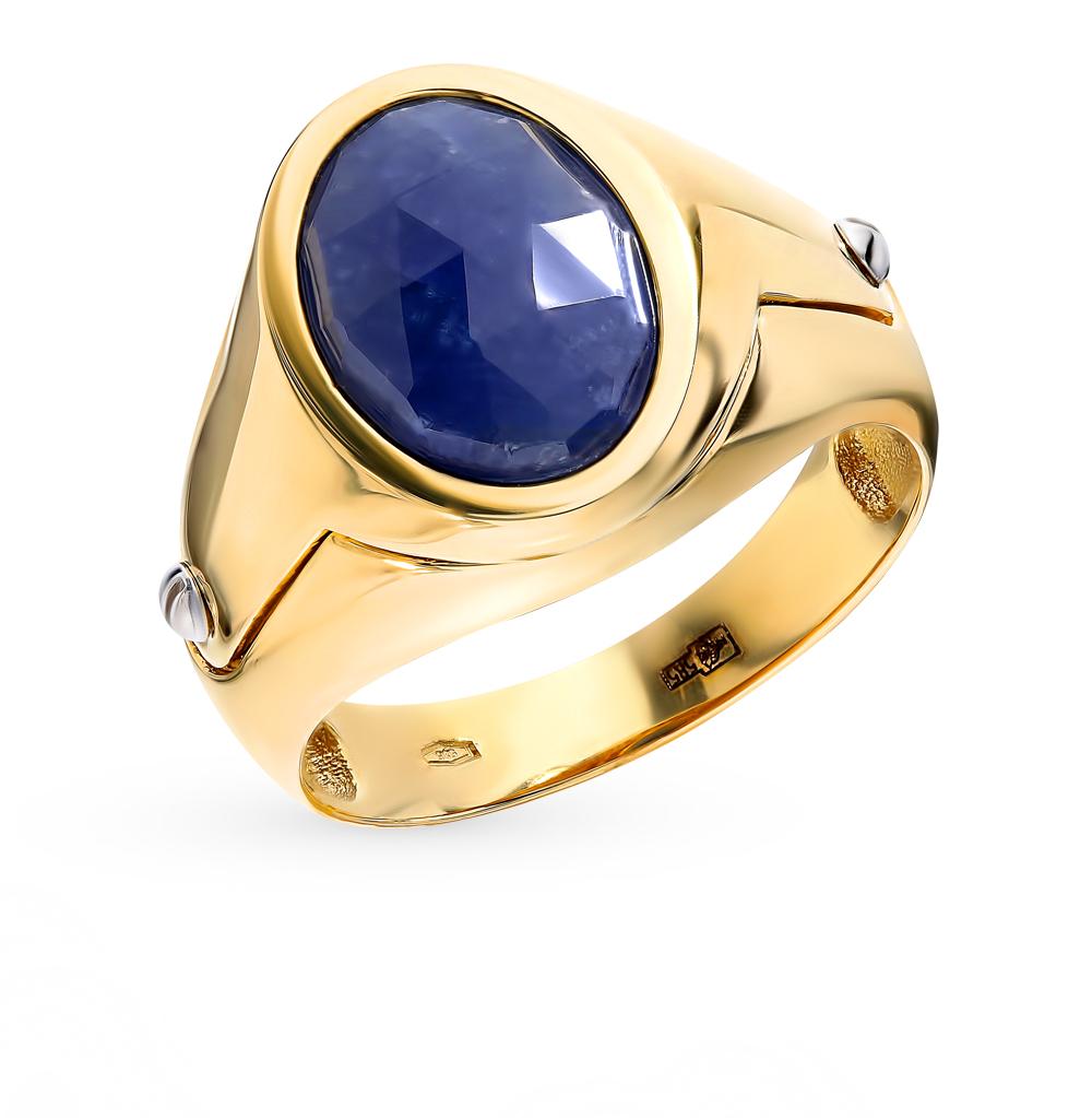 Мужское золотое кольцо с вставкой из алпанита