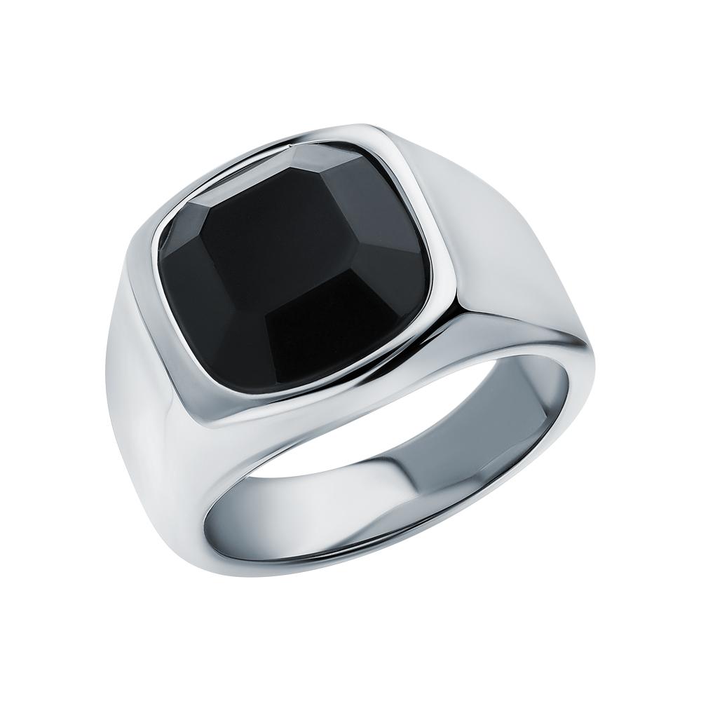 Фото «Стальное кольцо с агатом»
