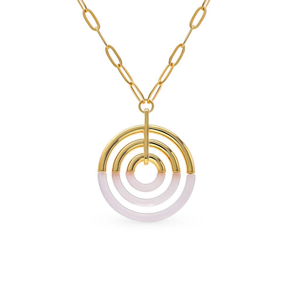 Фото «Серебряное шейное украшение с смолами ювелирными»