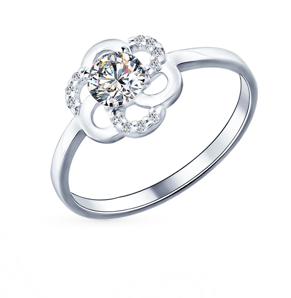 Фото «Серебряное кольцо с фианитами SOKOLOV 94011566»