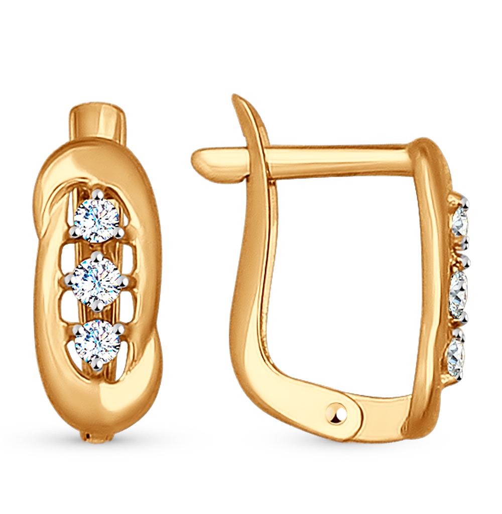 Золотые серьги с фианитами SOKOLOV 027169* в Екатеринбурге