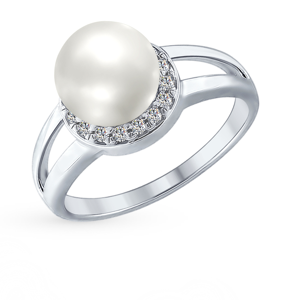 серебряное кольцо с кубическими циркониями SOKOLOV 94012353