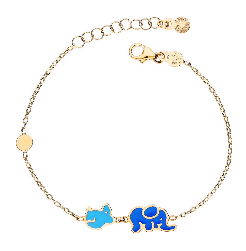 золотой браслет с эмалью