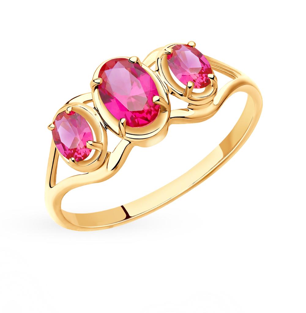 Золотое кольцо с рубинами и корундом SOKOLOV 715411* в Санкт-Петербурге