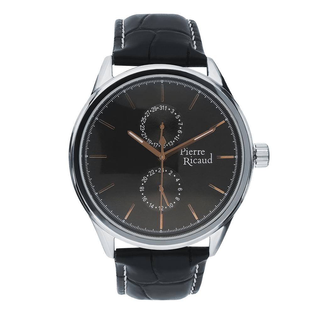 Мужские кварцевые часы P97244.52R4QF на кожаном ремешке с минеральным стеклом в Екатеринбурге