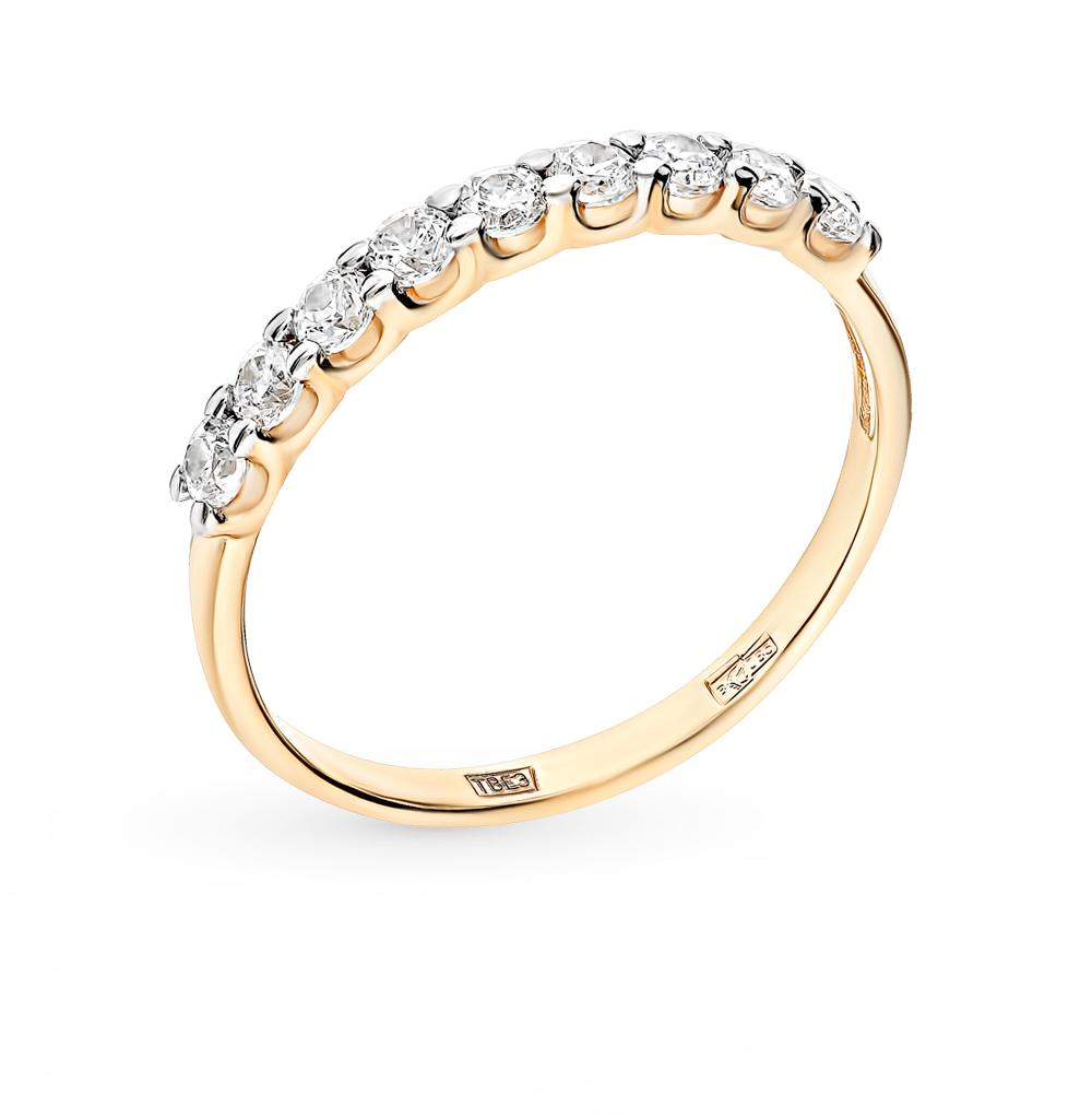 золотое кольцо с фианитами SOKOLOV 017169-2*