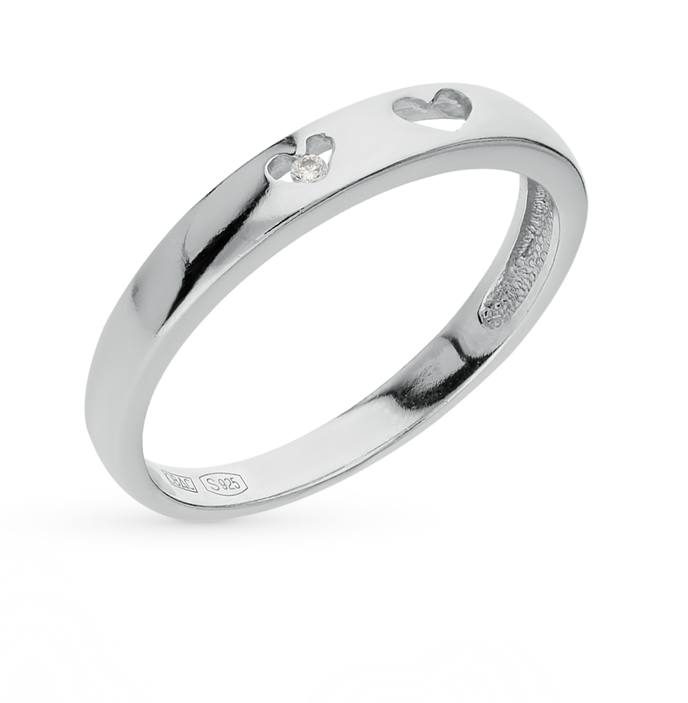 Фото «Серебряное кольцо с фианитами SOKOLOV 94011294»