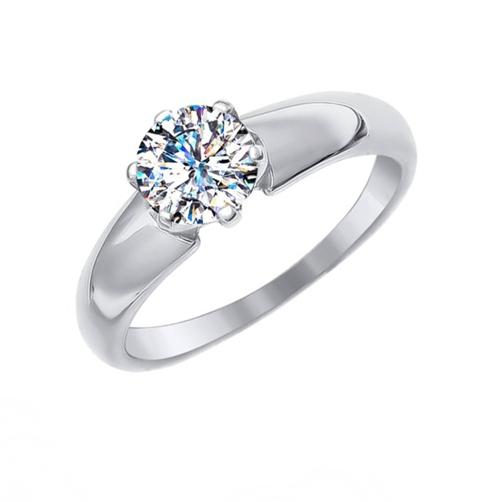 Фото «Золотое кольцо с фианитами SOKOLOV 81010237»