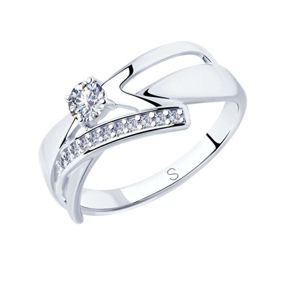 серебряное кольцо с фианитами SOKOLOV 94012823