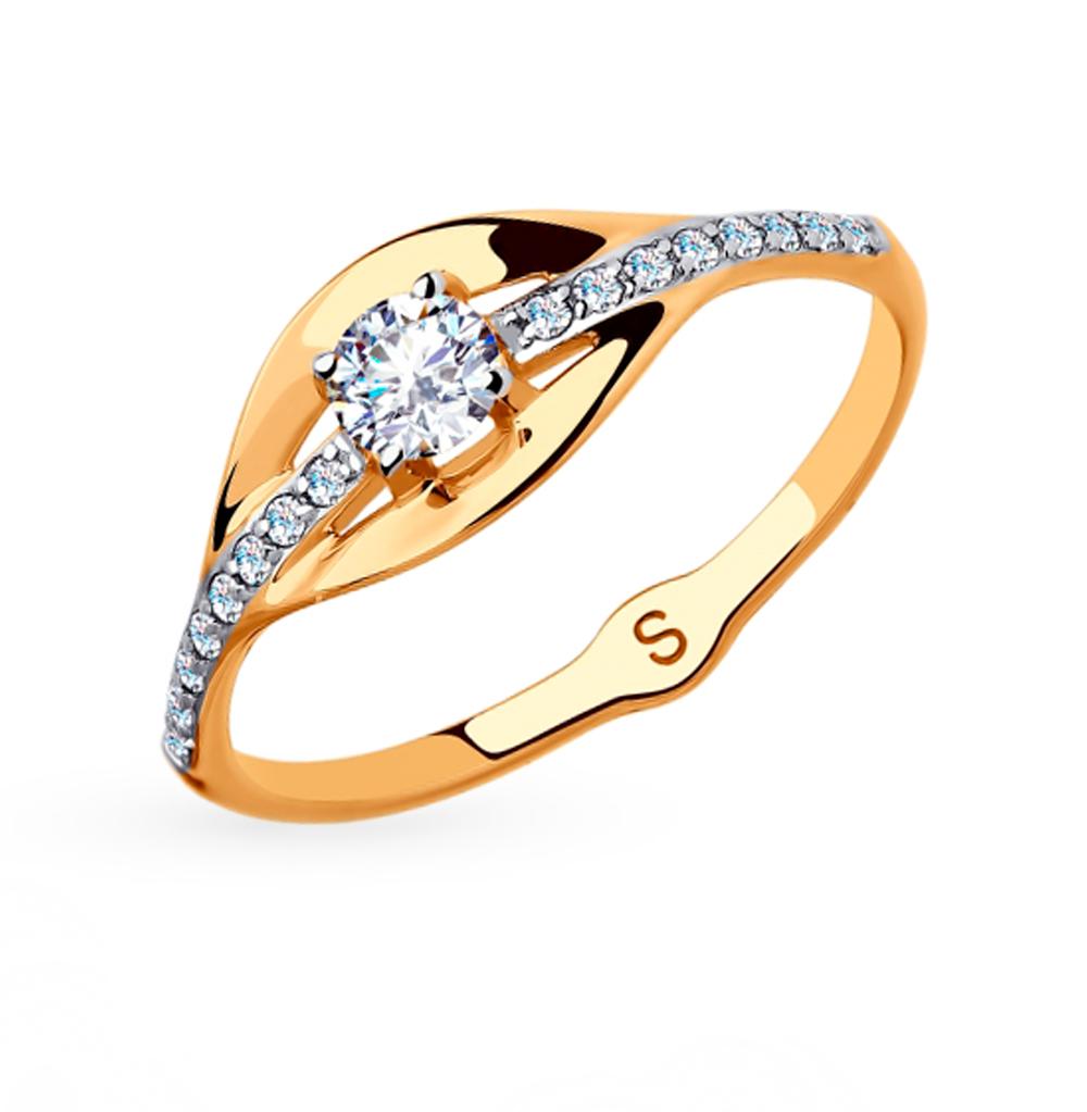 Золотое кольцо с фианитами SOKOLOV 018071* в Екатеринбурге