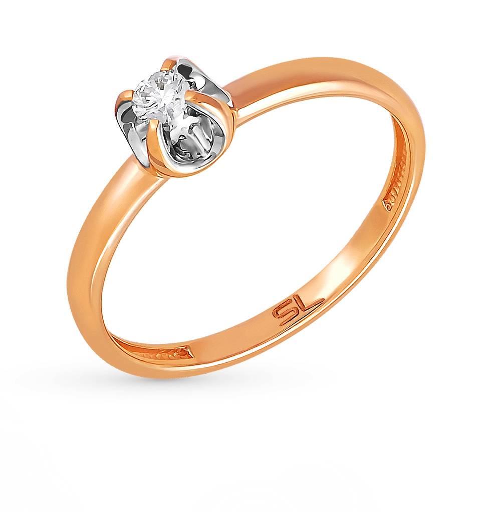 4d70b4b8a780 Золотое кольцо SUNLIGHT «Бриллианты Якутии»  красное и розовое ...