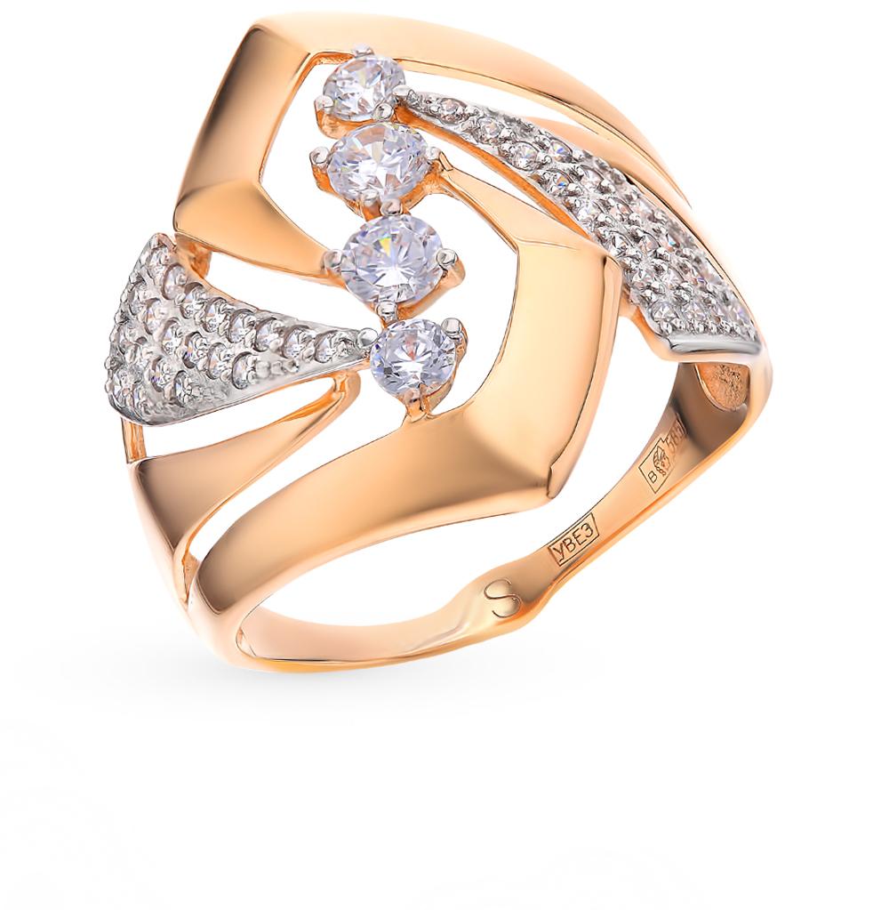 золотое кольцо с фианитами SOKOLOV 017781*