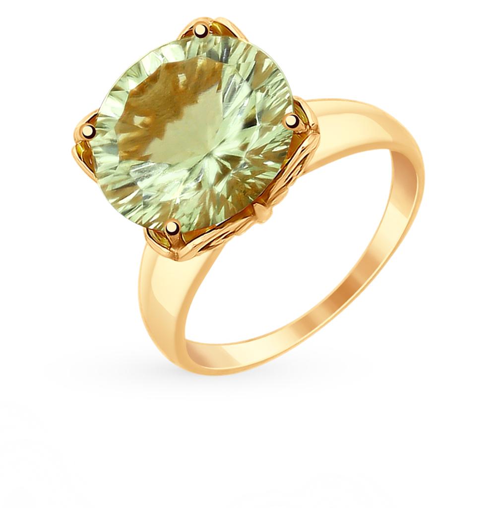 золотое кольцо с аметистом SOKOLOV 714957*