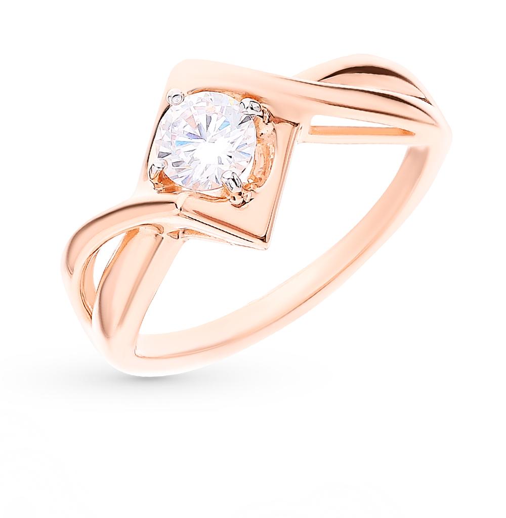 Фото «Золотое кольцо с фианитами SOKOLOV 018354*»