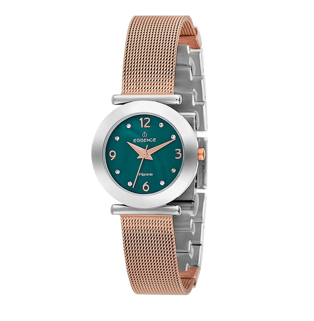 Женские часы D760.580 на стальном браслете с частичным розовым IP покрытием с минеральным стеклом в Санкт-Петербурге