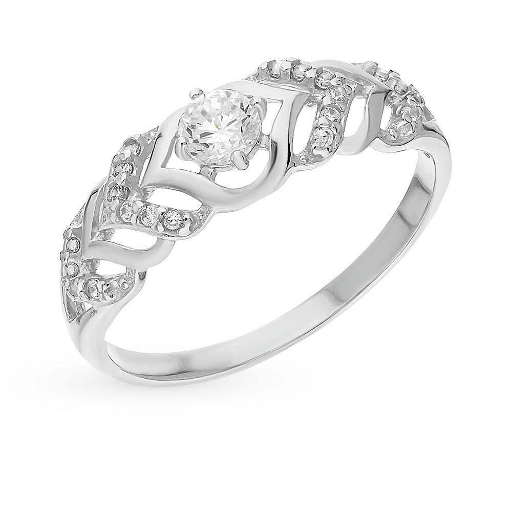 серебряное кольцо с фианитами SOKOLOV 94012351
