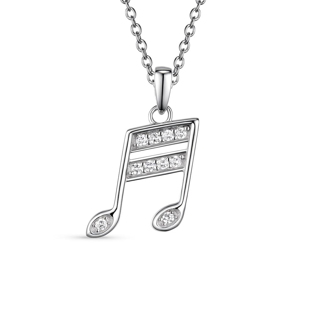 Фото «серебряная подвеска с фианитами»