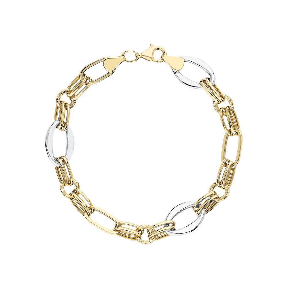 Золотой браслет JASMİNE JEWELLERY: золото 585 пробы — купить в интернет-магазине SUNLIGHT, фото, артикул 269714