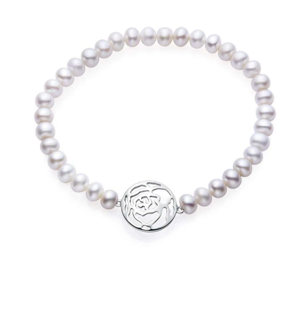 Фото «серебряный браслет с жемчугом»
