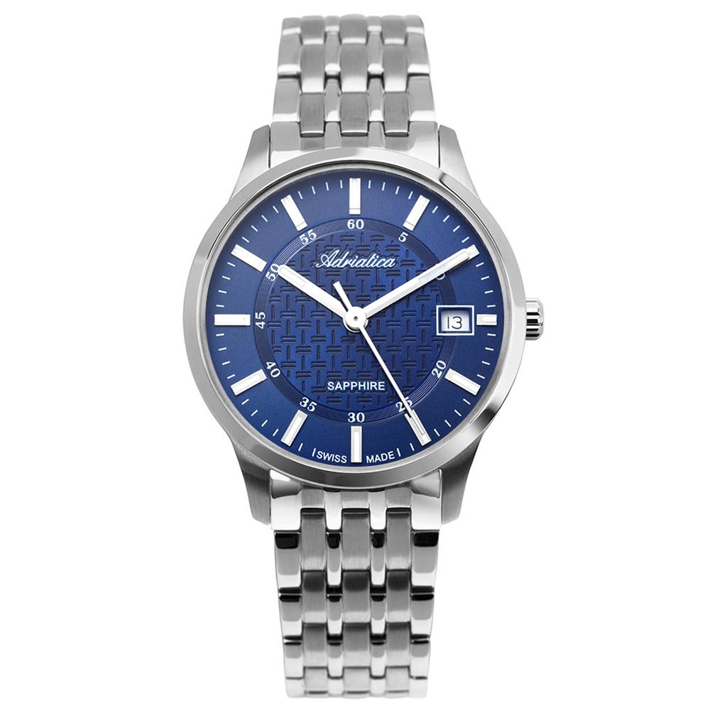 Фото «Мужские часы A1256.5115Q на стальном браслете с сапфировым стеклом»