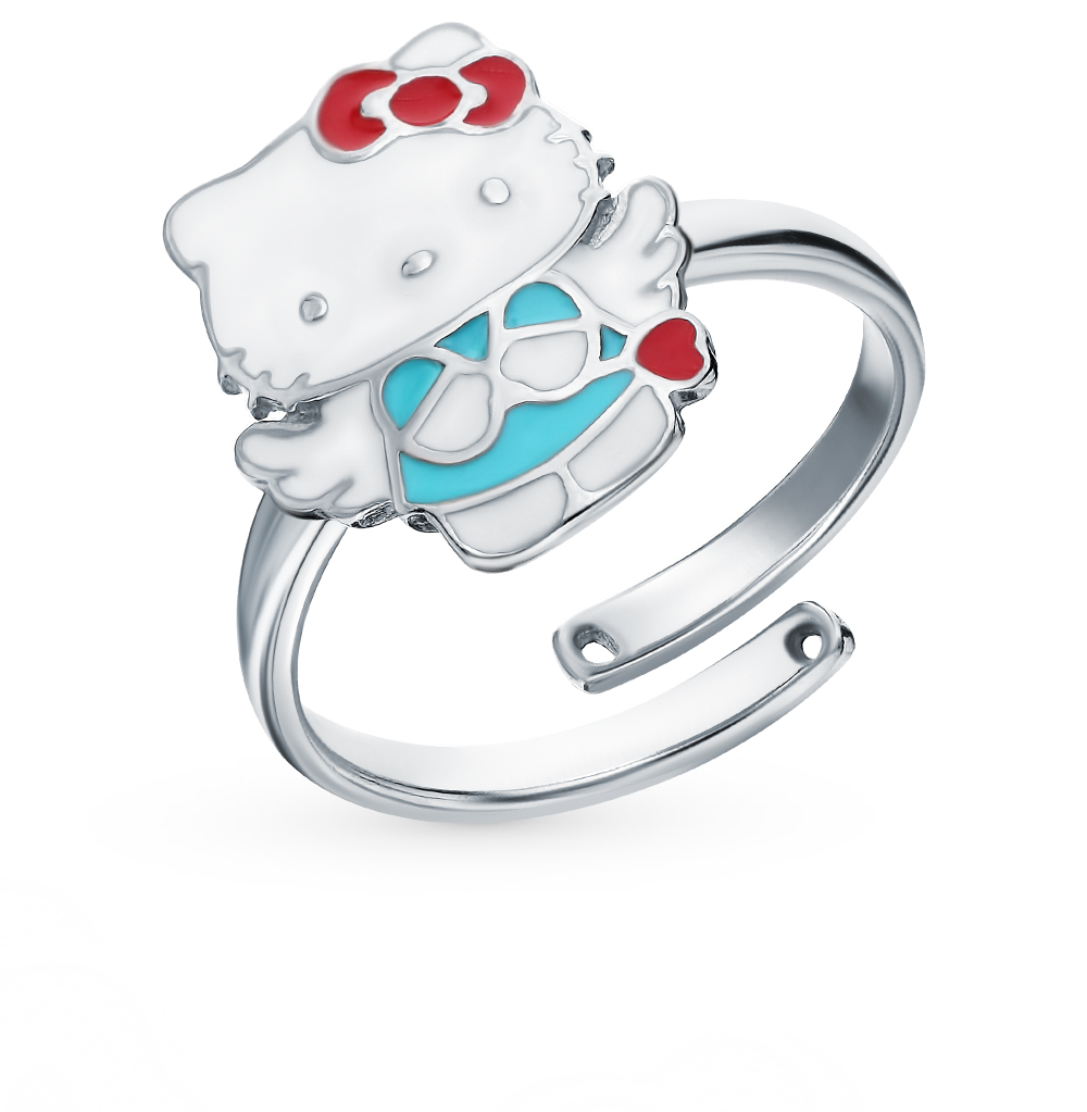 Серебряное кольцо с эмалью в Екатеринбурге