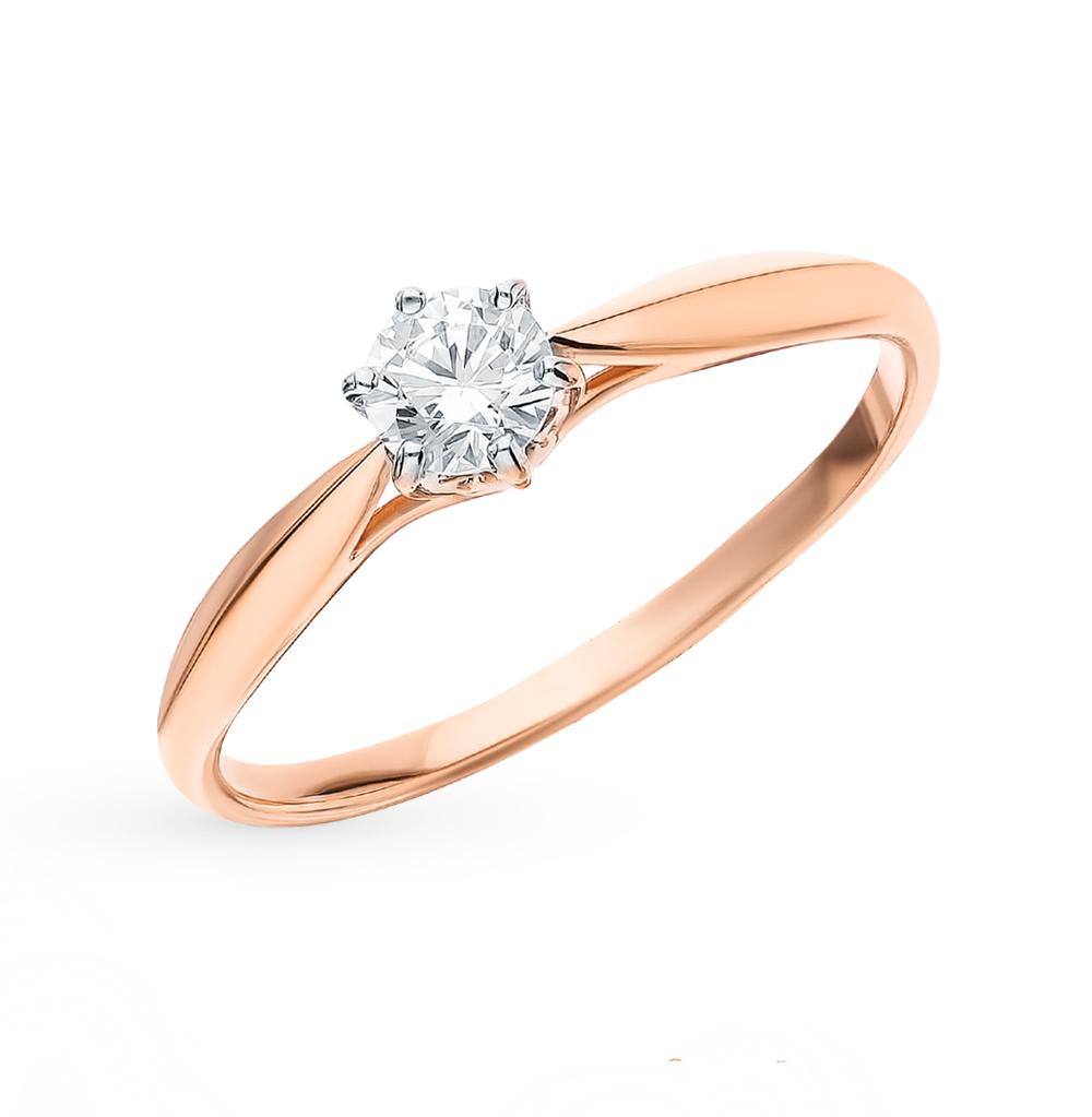 золотое кольцо с фианитами SOKOLOV 018177*