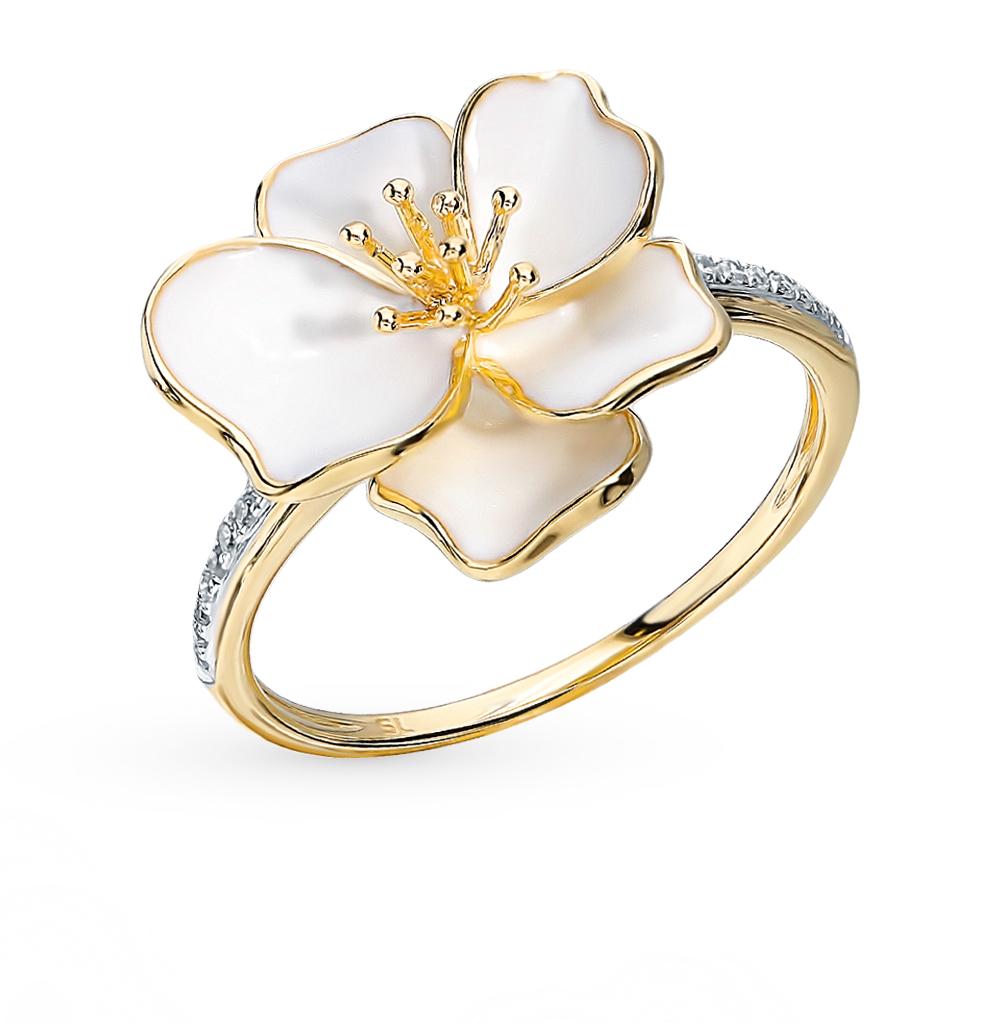 Золотое кольцо с эмалью и бриллиантами в Санкт-Петербурге