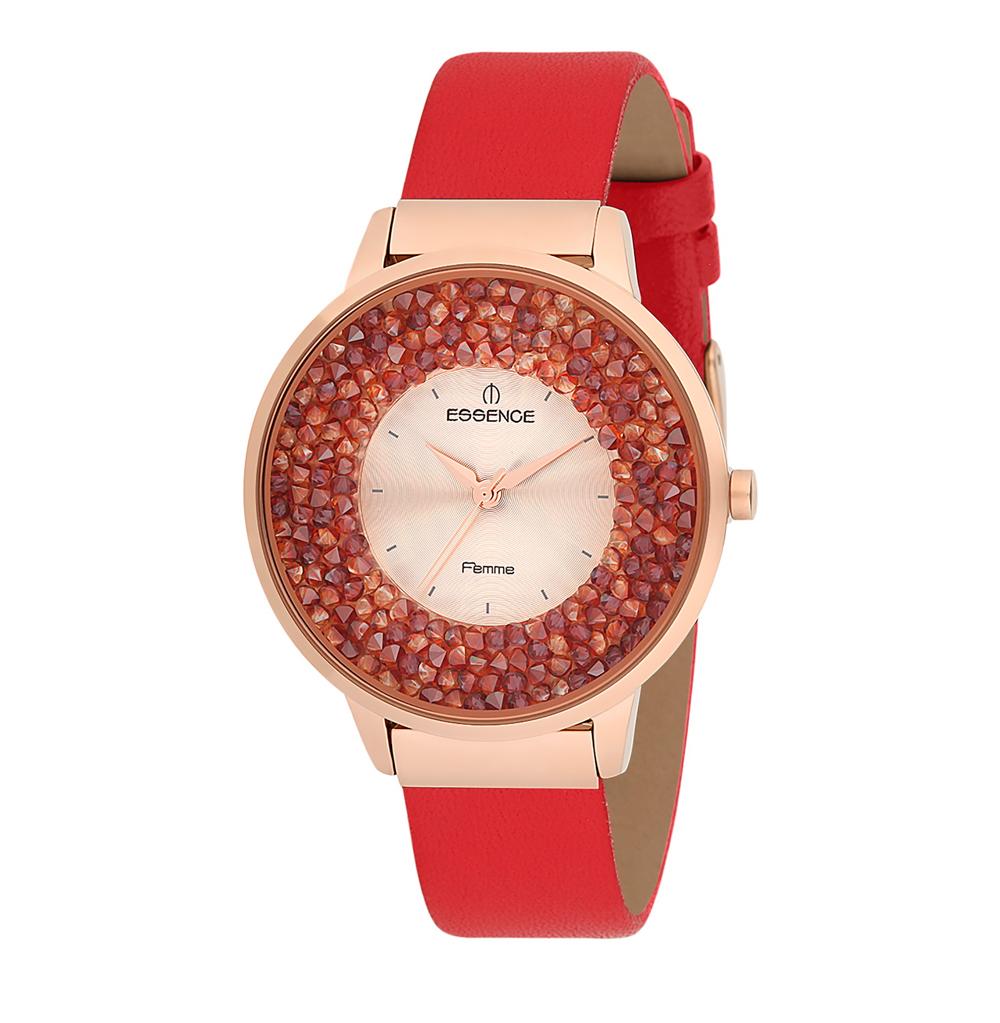 Женские часы D908.419 на кожаном ремешке с минеральным стеклом