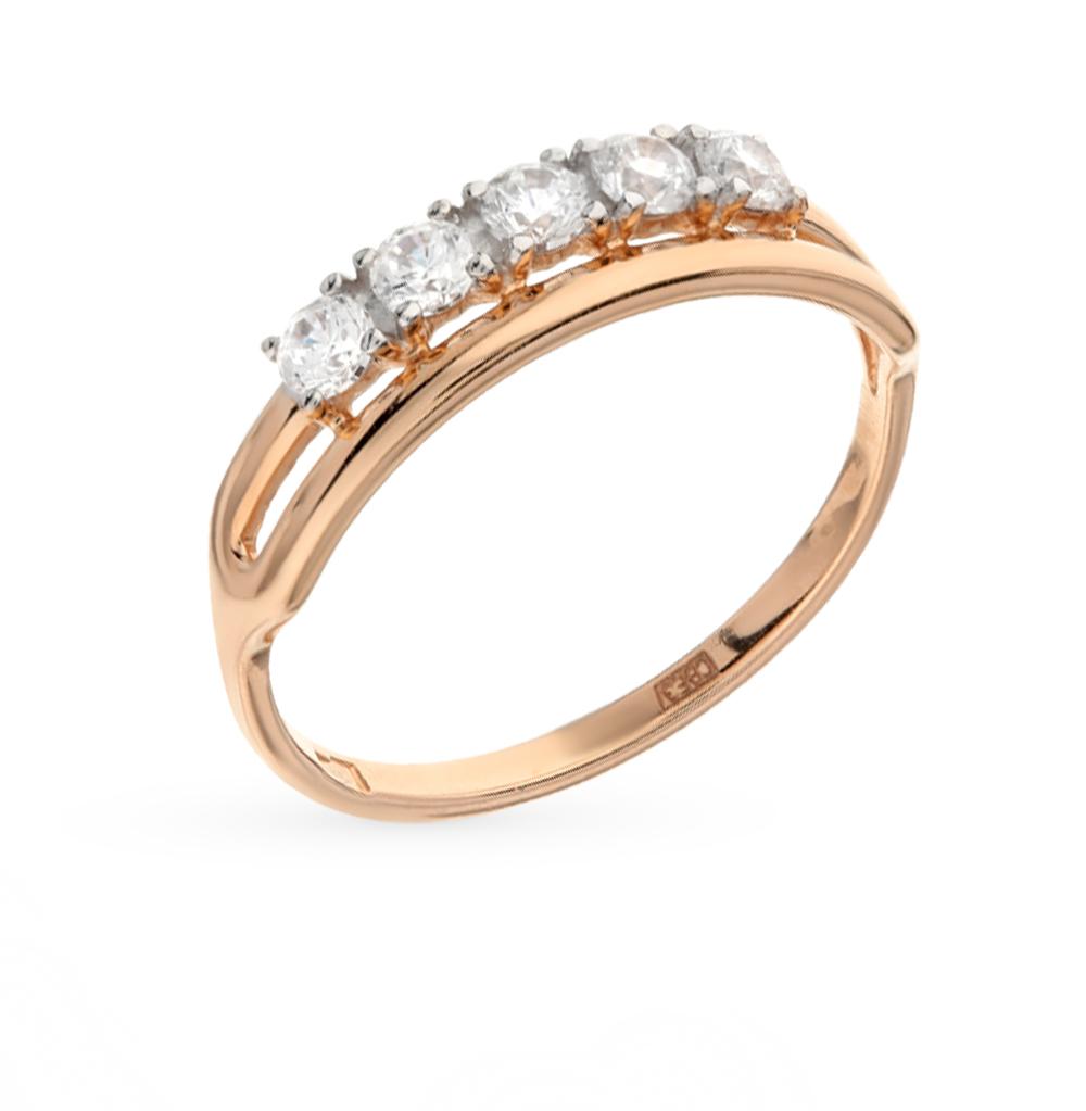 золотое кольцо с фианитами SOKOLOV 017170*