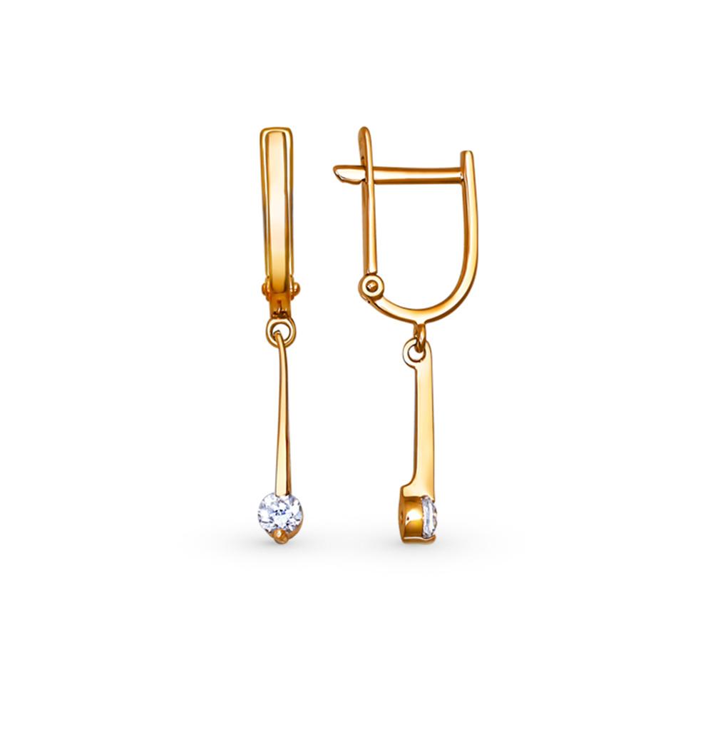 Фото «Золотые серьги с фианитами SOKOLOV 025569*»