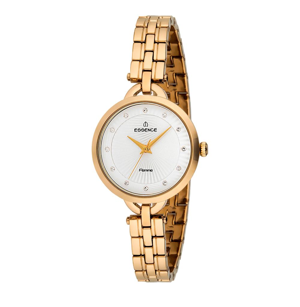 Женские часы D1046.130 на стальном браслете с IP покрытием с минеральным стеклом