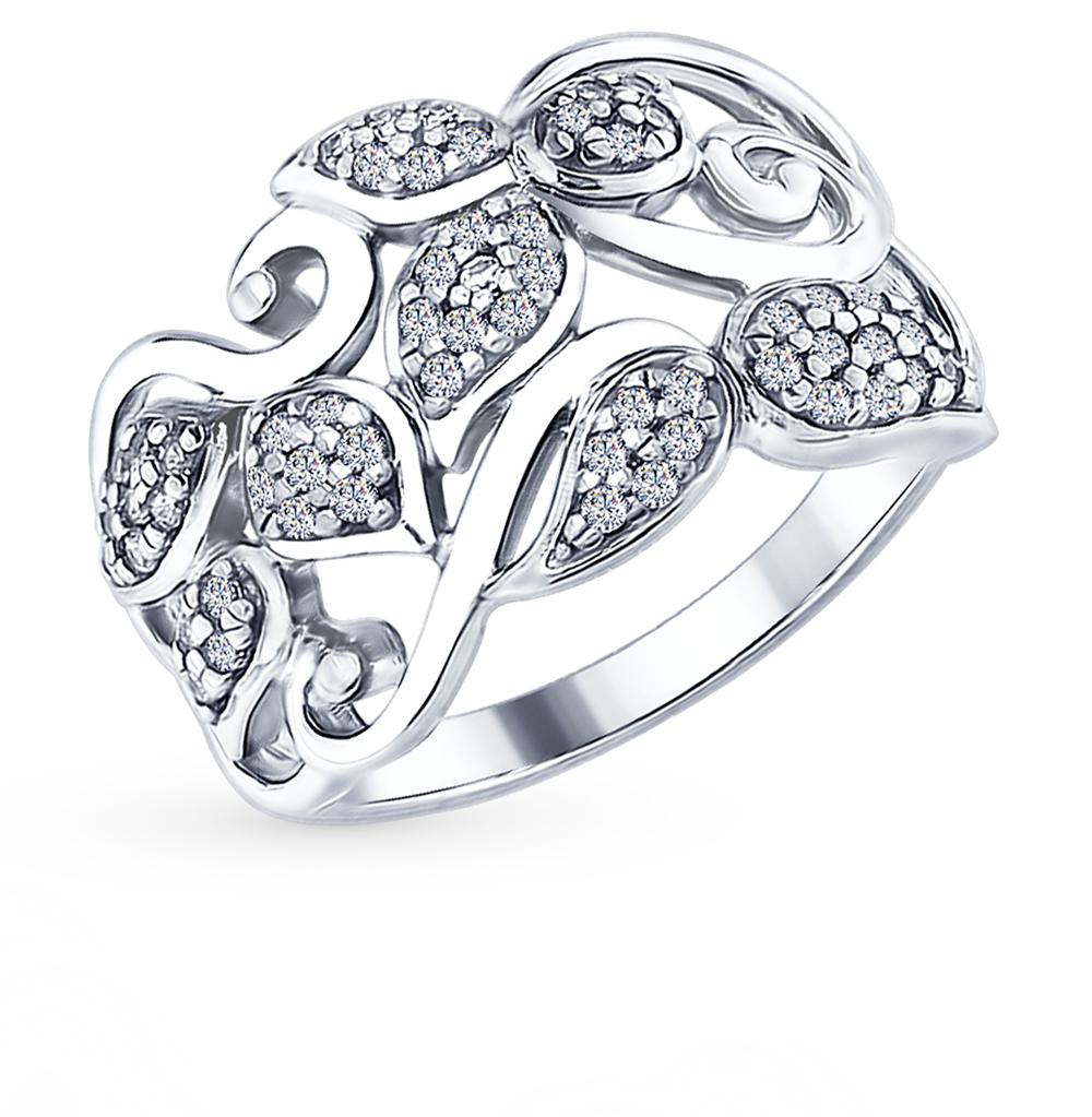 серебряное кольцо с фианитами SOKOLOV 94012590