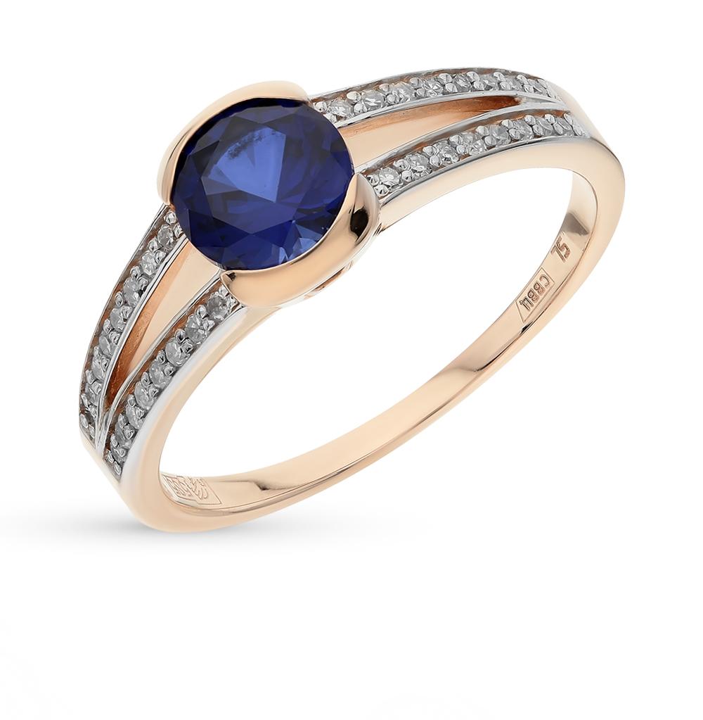 Золотое кольцо с корундом и бриллиантами в Санкт-Петербурге