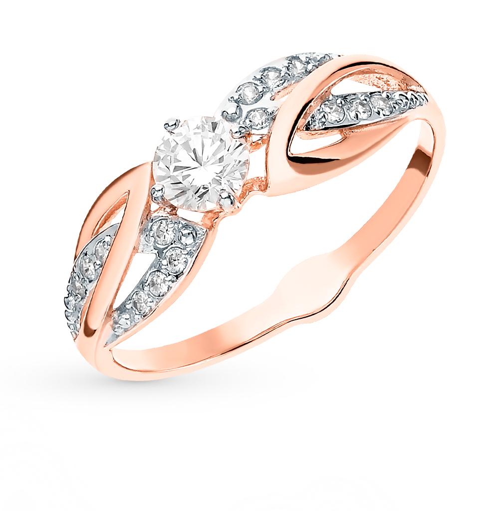 Фото «Золотое кольцо с фианитами SOKOLOV 017887*»