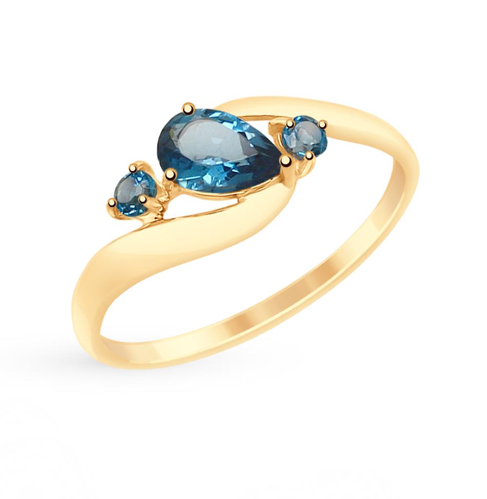 Фото «Золотое кольцо с топазами SOKOLOV 715081*»